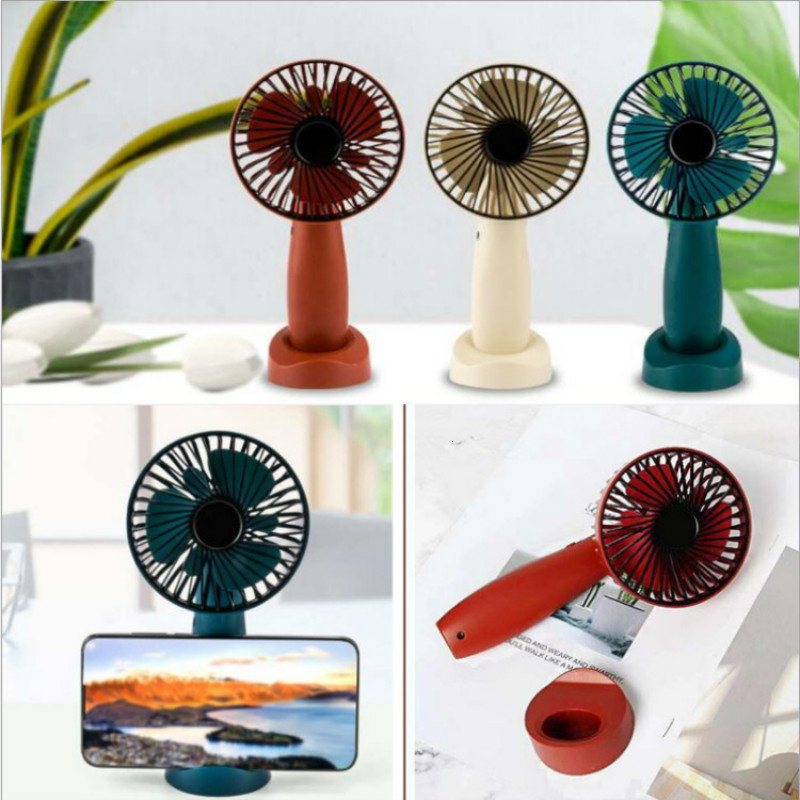 Originality Mobile Phone Bracket Usb Fans Can Charge Student Dormitory Mini- Desktop Fan With One Hold Small Fans