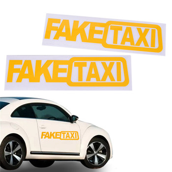 Car Sticker FAKE TAXI JDM Drift Turbo Race Auto Funny Vinyl Decal Sticker 21CM(Length)*6 CM(Width) image
