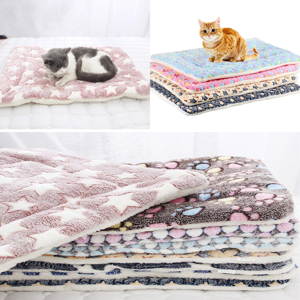 Thickened Pet Soft Fleece Pad Blanket Bed Mat For Puppy Dog Cat Home Washable Rug Keep Warm S/M/L/XL/XXL/XXXL Sofa Cushion