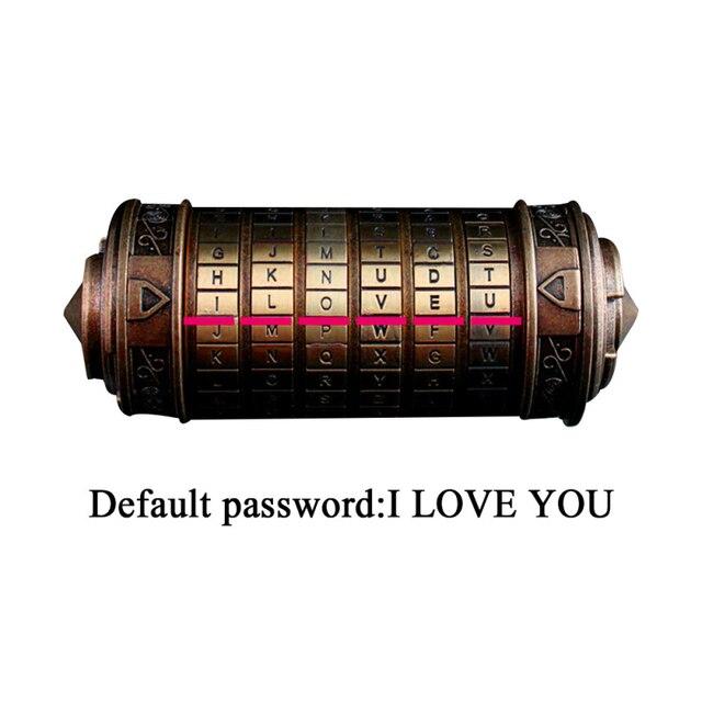 Da Vinci-serrure à Code classique en métal | Serrure romantique pour cadeau de saint-valentin, serrures pour chambre de sortie en mot de passe, accessoires cadeaux de mariage