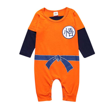 Cartoon Dragon Ball New Born Baby Clothes Ropa Bebe Summer Long Sleeve Wukong Romper Cotton Baby Onesie 3M-3T Jumpsuit Costume new 2017 ropa bebe branded summer quality 100