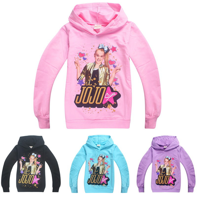Algodão jojo siwa meninas mangas completas hoodies jaqueta camisolas primavera outono topos roupas t camisa meninas traje