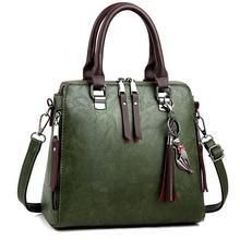 Роскошные винтажные женские ручные сумки, сумки с кисточками, сумки через плечо для женщин, известная кожаная женская сумка через плечо W387
