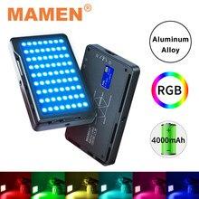 MAMEN Full Color RGB Video Light 1000K-9000K Photographic Lighting 4000 mAh CRI 96+ Lamp For Studio Youtube Vlog Camera Light