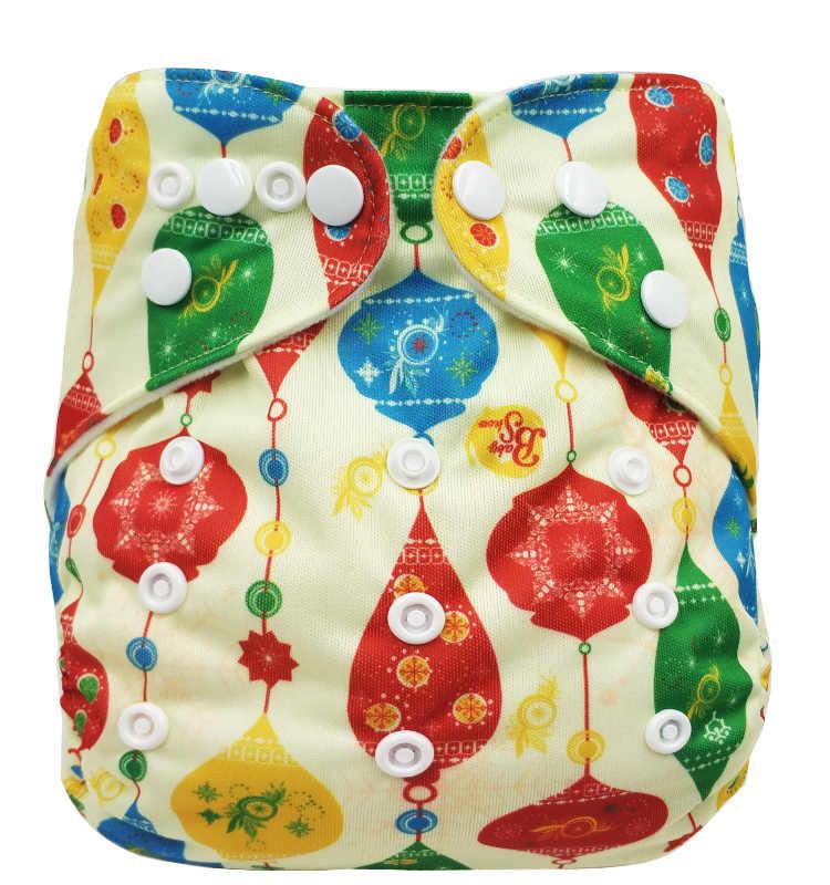 Pañales de bebé reutilizables Wasbare Luier tela de carbón de bambú cubierta de pañal Pul AIO recién nacido pañal de botón a presión
