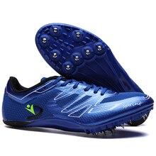 Мужские спортивные кроссовки с шипами, спортивные гоночные беговые кроссовки, спортивные кроссовки с шипами для мужчин, прыжки на дистанцию