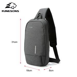 Image 3 - Kingsons homme sacs à bandoulière sacs à bandoulière hommes Anti vol coffre sac école été court voyage messagers sac 2019 nouveauté
