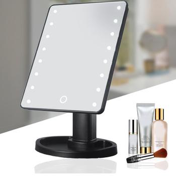 Profesjonalny a LED lustro do makijażu z oświetleniem regulowane światło 16 22 ekran dotykowy lustro stołowe WH998 tanie i dobre opinie MISS ROSE Wyposażone Acrylic Podświetlany Makeup