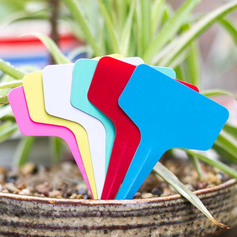 Flower Vegetable Planting Label Tools Farm Garden Seedling Tray 100pcs Gardening Plant T Shape Waterproof Tags Mark Garden