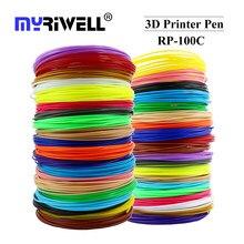 Myriwell 1.75mm abs pla pcl filamento plástico para impressora 3d caneta e segurança ambiental plástico