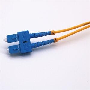 Image 4 - 10 шт. волоконно оптический патч кабель SC/UPC SC/UPC одномодовый дуплексный волоконно оптический патч корд 3 м 3,0 мм SC SC волоконно оптическая Перемычка кабель