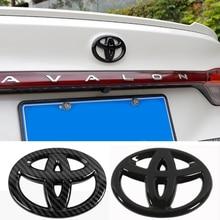 Car Rear Emblem Sticker for Toyota Logo Avalon Corolla Levin Rav4 Auto Trunk Badge Carbon Fiber Decals Modification Accesorios