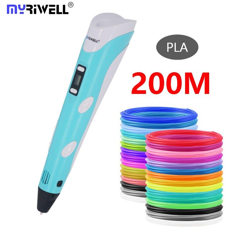 Myriwell 3d Pen 3d Pens,Bright Color, 1.75mm Filament,3 D Pen+Finger Sleeve 3d Printed Pen Best Kid Gifts
