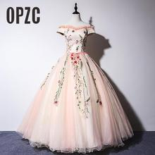 Ball-Gowns Prom-Dress Masquerade OPZC Quinceanera-Dresses Appliques Largos Puffy Vestidos-De-Gala