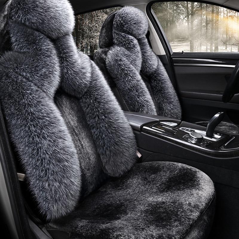 Универсальная зимняя подушка для автомобиля, короткий плюшевый уплотненный чехол для сидения, флисовый чехол для сидения автомобиля, полны