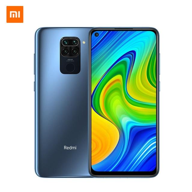 """Versão global xiaomi redmi nota 9 4gb 128gb smartphone helio g85 octa núcleo 48mp quad câmera traseira 6.53 """"dotdisplay 5020mah 4"""