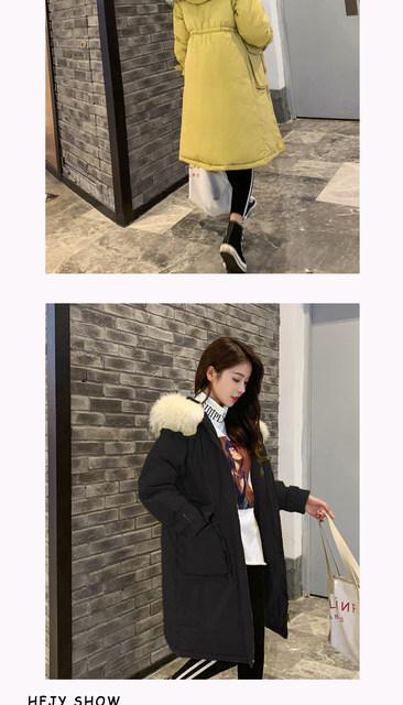 -30 Degrees Winter Women Long Parkas Jackets Plus Size M-5XL Thick Warm Big Fur Collar Female Slim Sintepon Parkas Outwear Coat 16