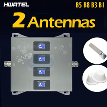 Banda 5 8 3 1 quatro 4 banda impulsionador repetidor 4g amplificador wcdma dcs gsm 900 mhz cdma 850 mhz israel brasil índia três antena