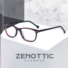 ZENOTTIC Kids Glasses Square Glasses Frame Boys Eyeglasses Optical Glasses Frame Girls Glasses Frames Clear Glasses BT5000 cheap Unisex Acetate striped BT5004 Eyewear Accessories BLACK BLUE GREY Can Be Customized Contact Seller First Anti Blue Light Photochromic Lens