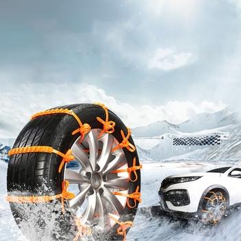 2021 nowy 10 sztuk zestaw samochodowe uniwersalne antypoślizgowe łańcuchy śnieżne pojazdy terenowe łańcuchy śnieżne na opony łańcuchy śnieżne s awaryjne antypoślizgowe opaski tanie i dobre opinie LGHDDG CN (pochodzenie) nylon Łańcuchy śniegowe 0 73inch
