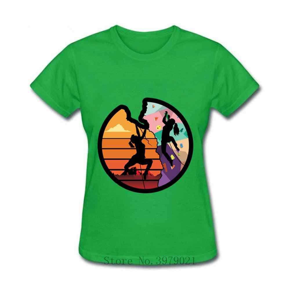 Las mujeres de escalada T camisas escalar como una chica camisetas las actividades de deportes de acción, aventura pared escalador regalo camisetas