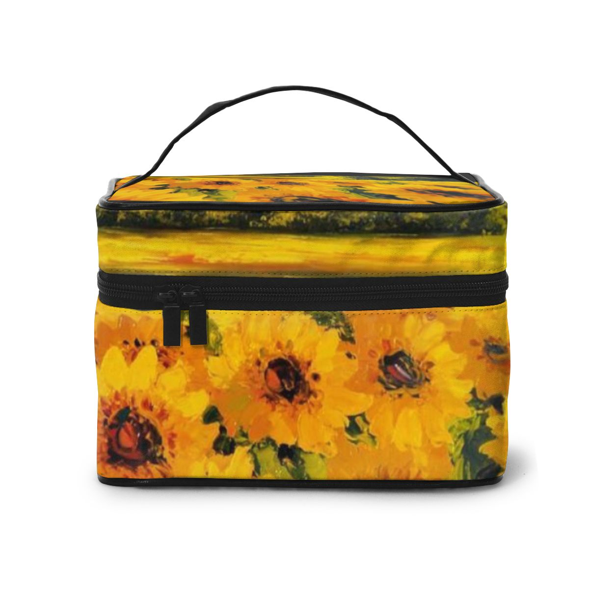 NOISYDESIGNS Women Travel Comestic Box Sunflowers Printing Makeup Bags Multifunction Beauty Case Neceser Maquillaje Mujer