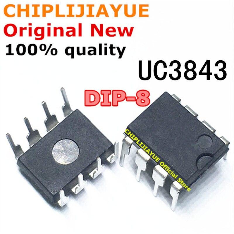 10 pces uc3843 dip8 uc3843b uc3843bn dip 3843 uc3843an dip-8 chipset ic novo e original