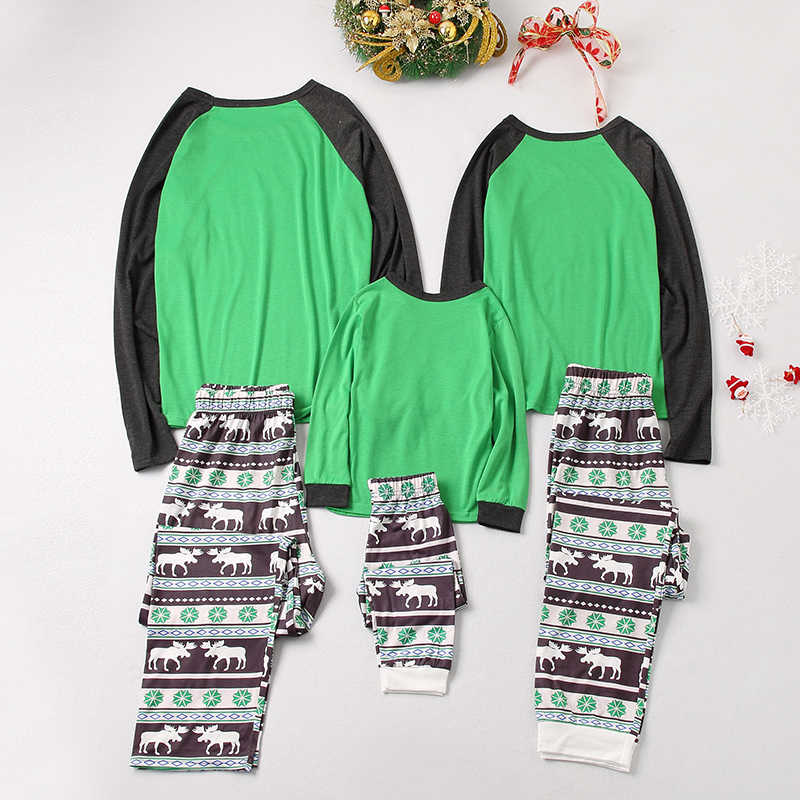 Keluarga Natal Piyama Set Ayah Ibu Anak Yang Sesuai dengan Baju Tidur Pakaian Piyama Pakaian Keluarga Terlihat Piyama Baju Tidur