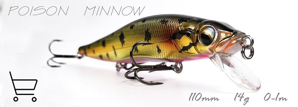 FINGYU Walk Fish 10 Pz//Lotto Minnow Fishing Lure 18 Cm 26G Esche Da Pesca Artificiale Dura Esca Esca Affondante Trota Bait Wobbers Spedizione Gratuita