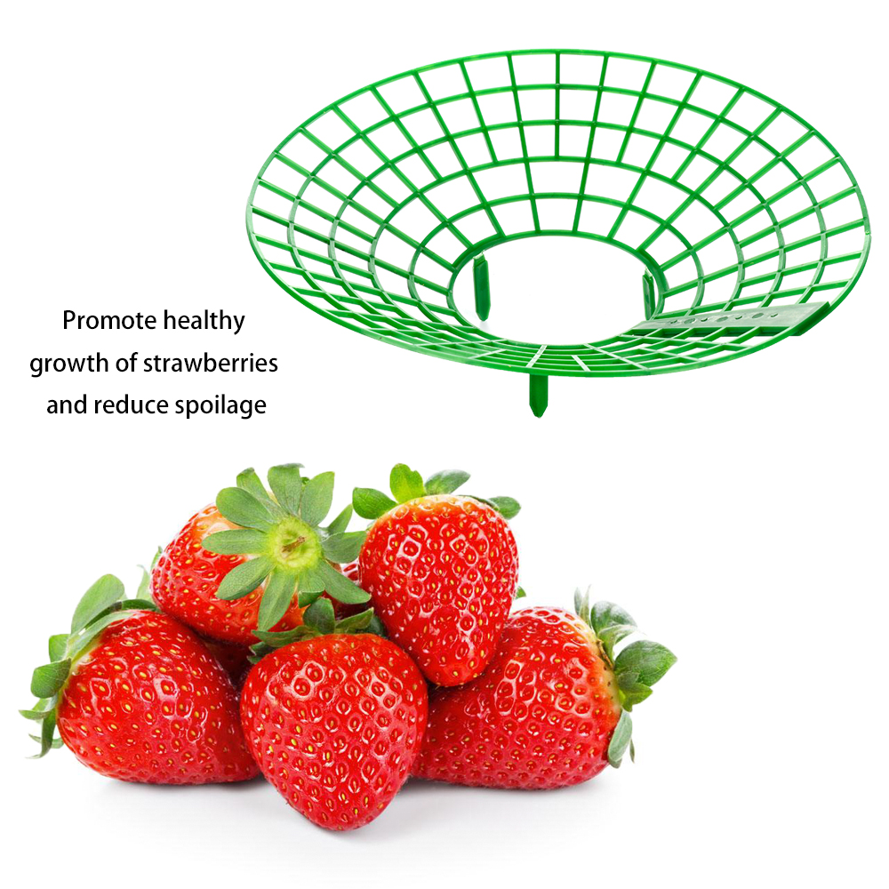 1PC Strawberry Stand Frame Holder Balcony Planting Rack Fruit Support Plant Flower Climbing Vine Pillar Gardening Stand