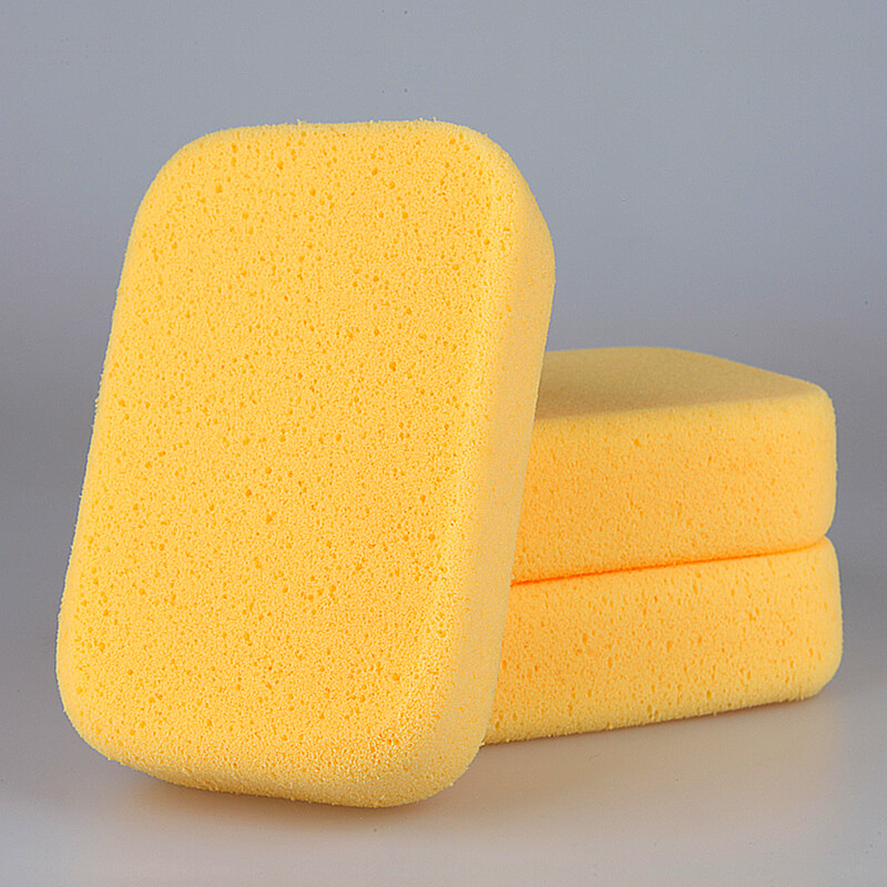 Practical Car Auto Washing Cleaning Sponge Block Cleaner Wiper Mini Yellow Honeycomb Coralline Car Sponge