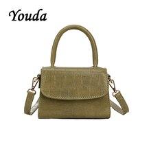 купить Youda Retro Simple Original Female Shoulder Tote Classic Sweet Solid Color Messenger Bag Fashion Leisure Portable Handbag дешево