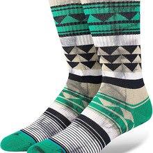 Мужские носки для катания на коньках с зеленым треугольником и красителем, размер США M(6-9), европейский размер 39-42