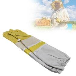 Pszczelarz zapobiegać rękawice ochronne rękawy wentylowane profesjonalne Anti pszczoła dla pszczelarz ula żółty siatki w Przybory pszczelarskie od Dom i ogród na