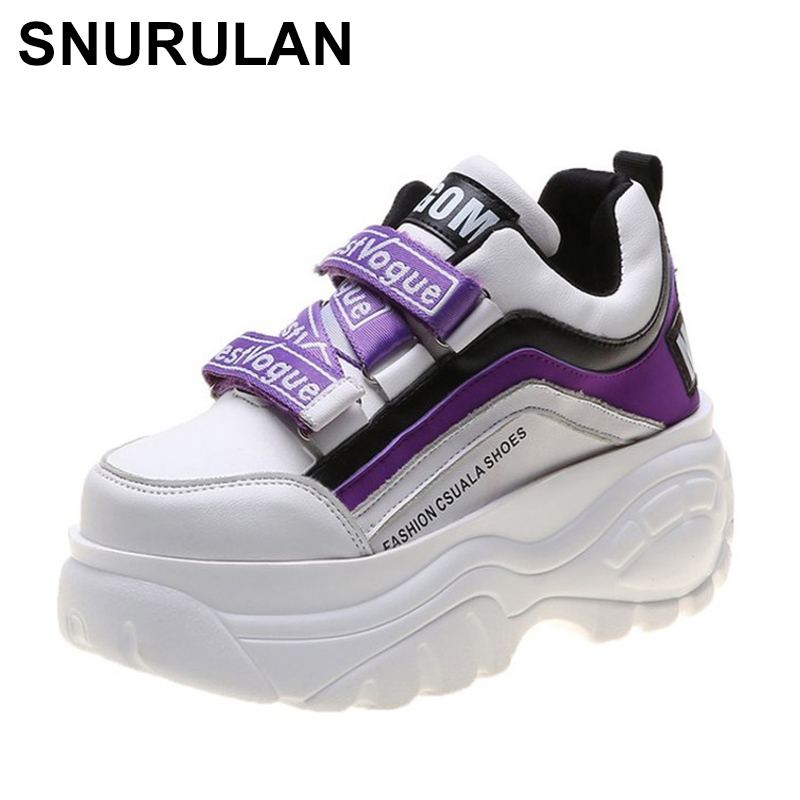 SNURULAN   Women's Sneakers-columns; 2019 Collection Fashionable Sneakers On The Platform; Brand Women's Casual Shoes With Wedge