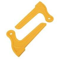2 stücke Gelb Holz Sah Push Stick Für Zimmerei Tisch Arbeits Klinge Router-in Säge aus Werkzeug bei