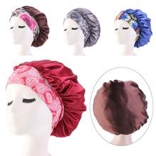 Hat Head-Band Curly Hair-Bonnet Hair-Chemo-Cap Sleep-Cap-Cover Satin Silk Nightcap Women