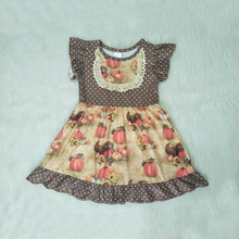 Cute Girls Dress 2019 Summer New Fashion Halloween Pumpkin Baby Casual Dresses Princess Dropshipping