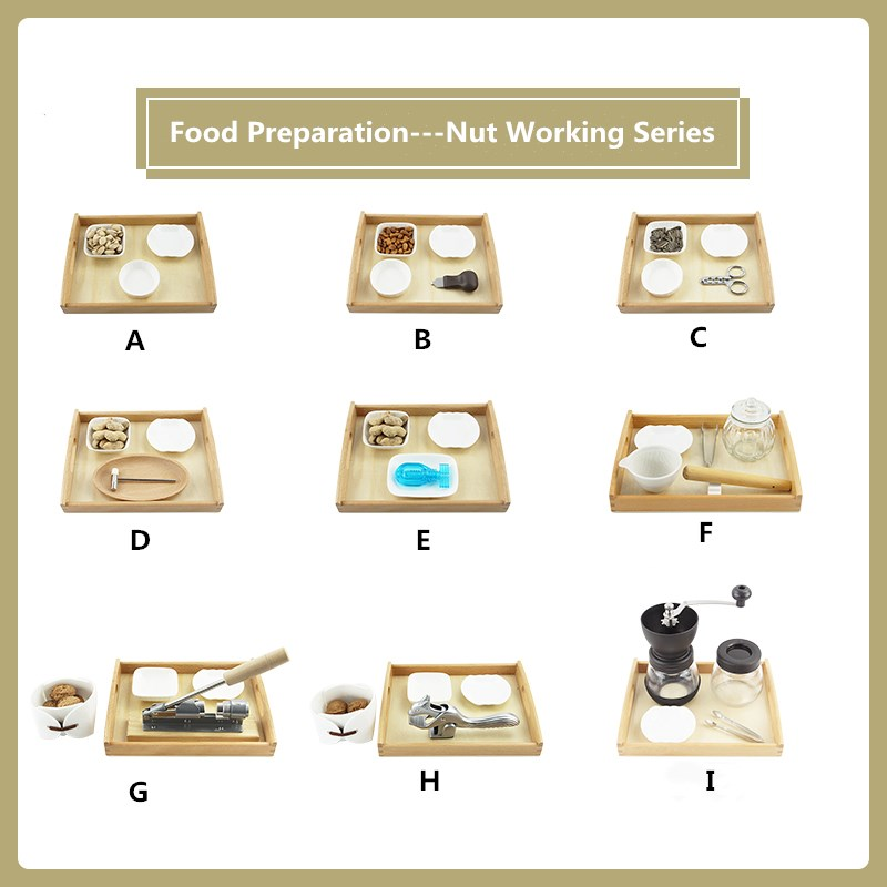 Montessori Practical Materials Food Preparation Nuts Working Series Basic Skill Practice Montessori Toys