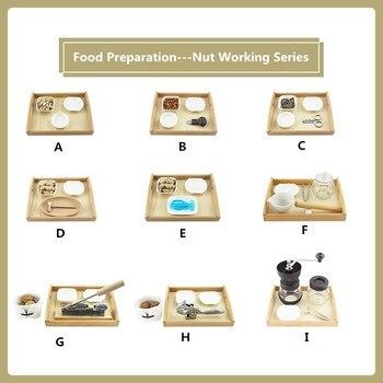 Montessori materiales prácticos preparación de alimentos tuercas de trabajo serie de práctica de destreza básica juguetes Montessori
