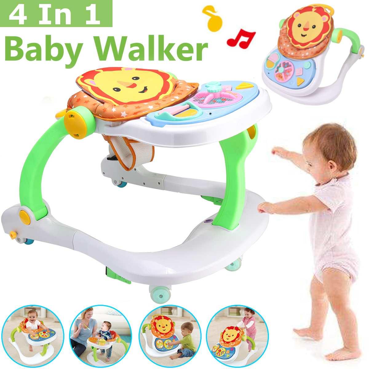 4 en 1 bébé marcheur bébé Balance premiers pas marcheur enfants bambin début chariot éducatif apprendre à se tenir marcheur
