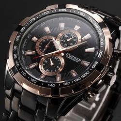 CURREN watch Top Brand Luxury Watches Men Fashion Casual Business Quartz Mens Wristwatches Sports Steel Band Clock 8023 Relojes