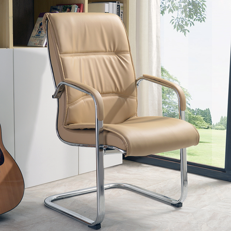 Computer Chair Home Office Chair Steel Meeting Chair Simple Drawing Leather Chair Chess Mahjong Chair Bow Chair