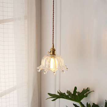 japan pendant lights luminaria crystal Home Decoration E27 Light Fixture   restaurant  luminaire suspendu hanglamp