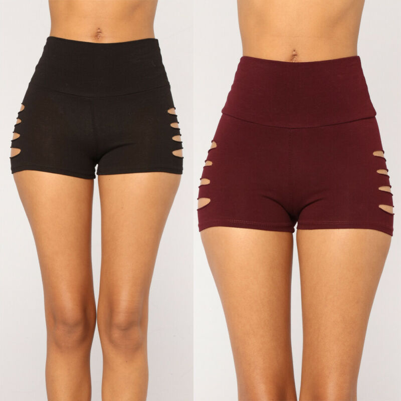 NEW 2020 Womens Yoga Shorts Hollow Out Sports Gym Fitness Hot Beach Running Butt Lift Booty Pants