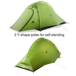 3F UL biegów Zhengtu2 15D 2-osoby 3 sezon/4-sezon Ultralight Camping namiot z podkładka naziemna