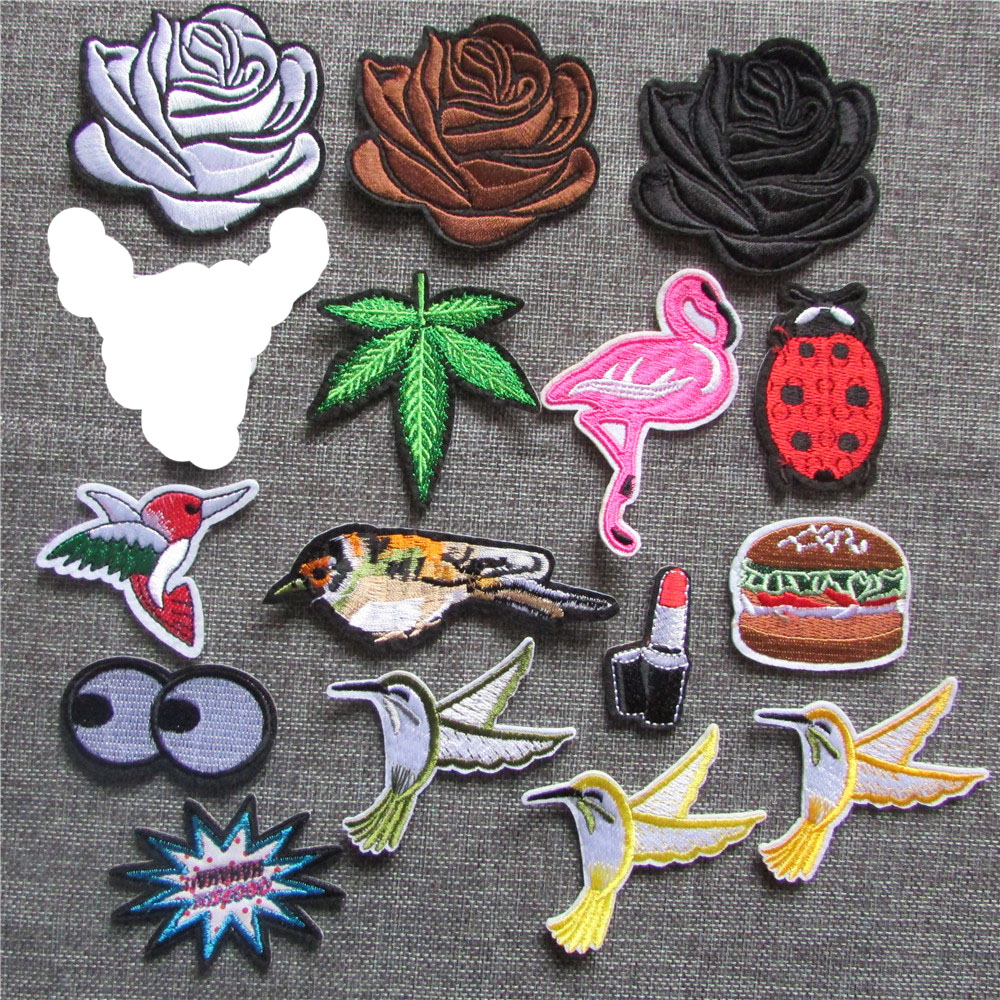 1pcs Sell Fashion Style Hot Melt Adhesive Applique Embroidery Patch DIY Clothing Accessory Patches Stripes C5213-C5233