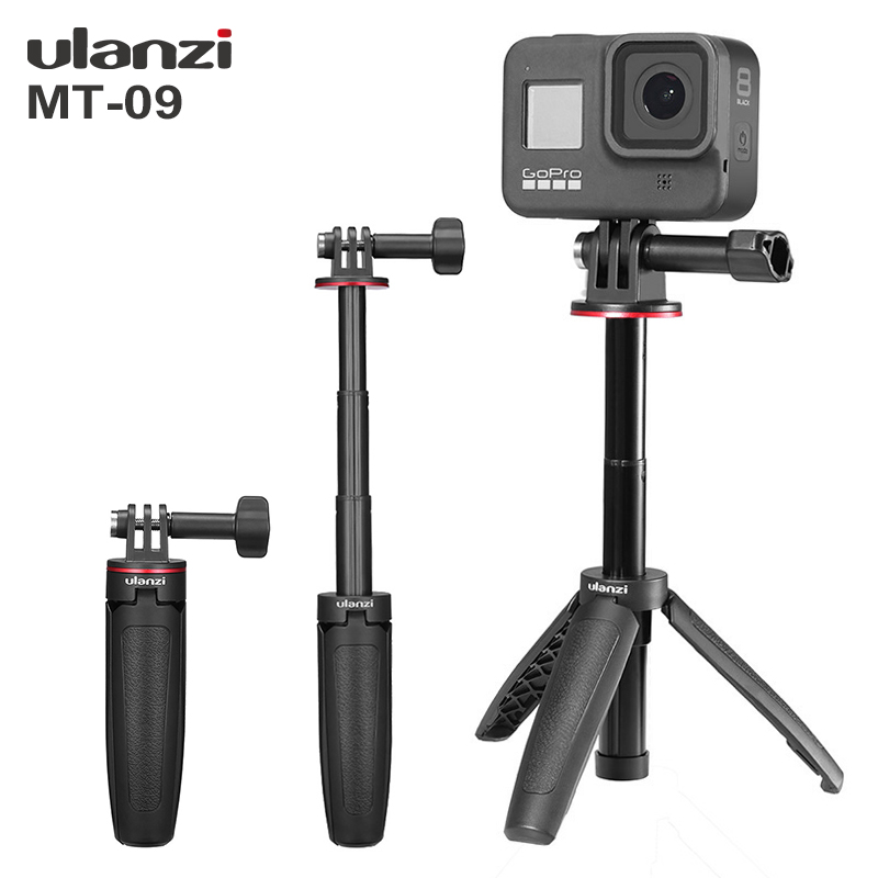 Ulanzi MT-09 estender gopro vlog tripé mini tripé portátil para gopro hero 8 7 6 5 sessão preta câmera de ação osmo