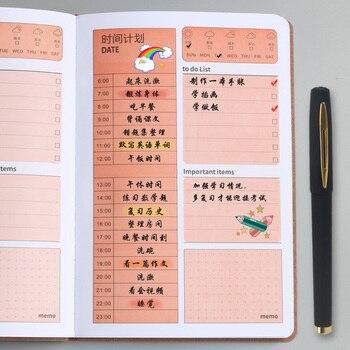 A5 Time Plan Management Notebook 2020 Daily Plan Study Efficiency Book Planner Agenda 2020 Planner Organizer Daily Planner fingerprint lock multi function management book plan notepad agenda business meeting notebook planner gel pen memo pad a5