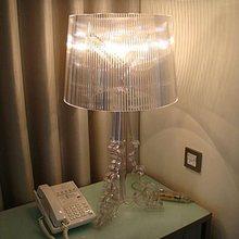 מודרני פשוט Ghost צל ברור שקוף אקריליק שולחן מנורות אור מחקר מיטת חדר שינה אקריליק שולחן מנורות אור
